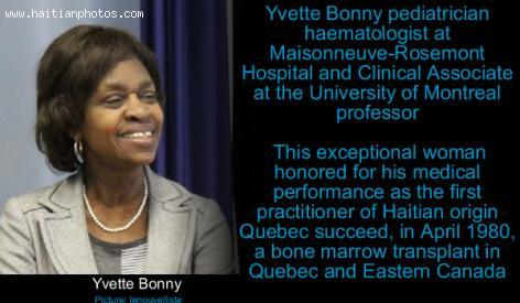 Haitian-Canadian Dr. Yvette Bonny