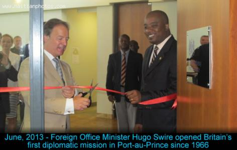 Opening of first British diplomatic mission in Haiti since 1966