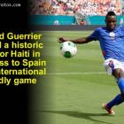 Donald Guerrier scored historic