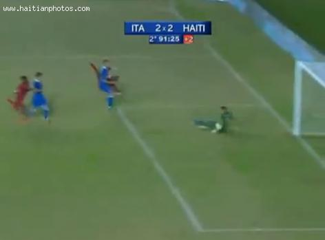 Haiti's Tie Game against Italy World Champs