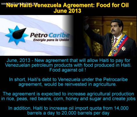 New Haiti-Venezuela Agreement: Food for oil