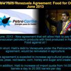 New Haiti-Venezuela Agreement: Food for oil