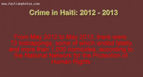 Crime in Haiti: 2012 - 2013