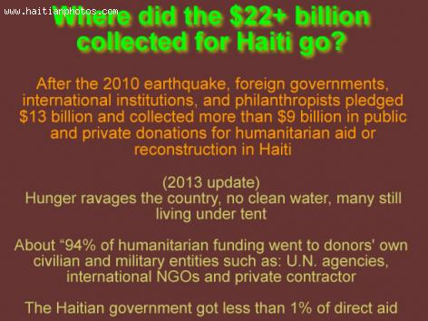 Over $22 billion collected for Haiti, where did the money go?