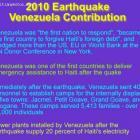 2010 Earthquake - Venezuela Contribution