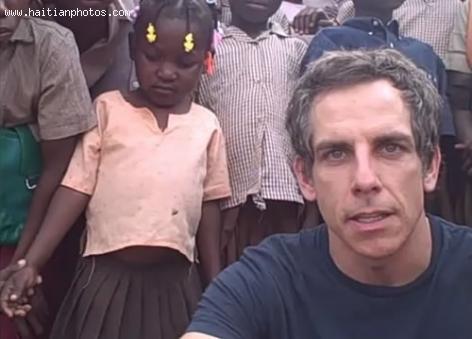 comedian Ben Stiller in Haiti