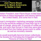 Jean-Pierre Boyer and Promoting the Emigration of Free Persons of Color to Haiti