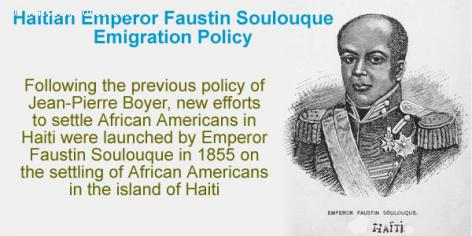 Haitian Emperor Faustin Soulouque Emigration Policy