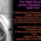 James Theodore Holly sees Haiti as opportunity for blacks to establish Black nation