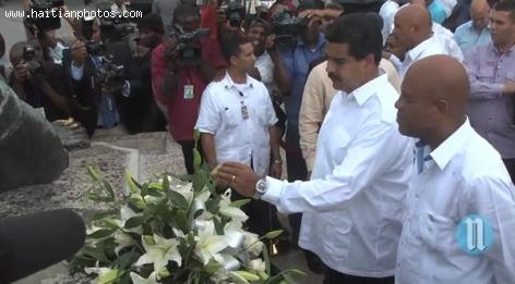 President of Venezuela Nicolas Maduro in Haiti