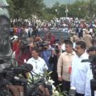 Nicolas Maduro, President of Venezuela in Front of Neg Mawon