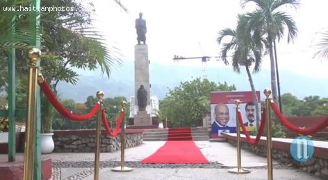 Venezuelan President Nicolas Maduro Visits Haiti - Alexandre Petion Statue