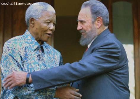 Nelson Rolihlahla Mandela and Fidel Castro