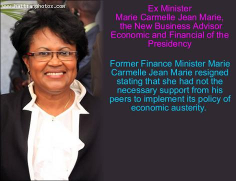 Business Advisor Economic and Financial of the Presidency, Marie Carmelle Jean Marie