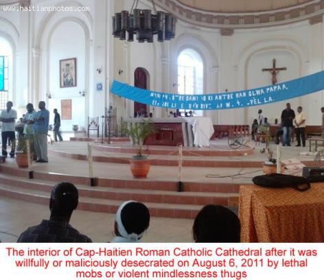 Cap-Haitien Cathedral Vandalized