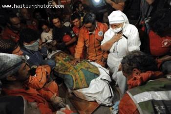 Rescue Of Joseph Mio Body, Archbishop Of Port-au-Prince
