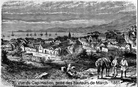 The city of Cap-Haitian in 1881