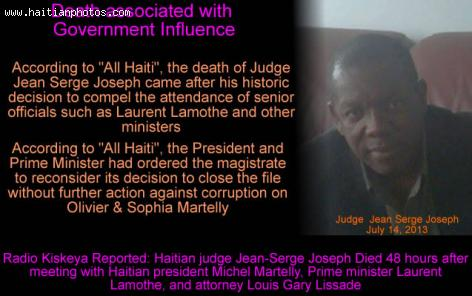 The Death of Judge Jean Serge Joseph