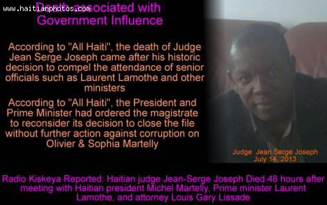 The Death of Judge Jean Serge Joseph