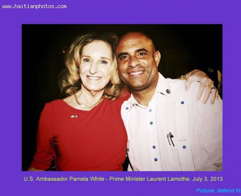 US Ambassador Pamela White with Laurent Lamothe