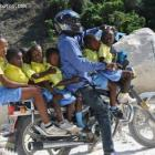 Motorcycle taxi in Haiti