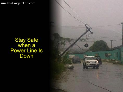 Storm Tips, how to deal with Down Powerline