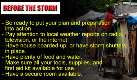Storm Tips- Before Storm