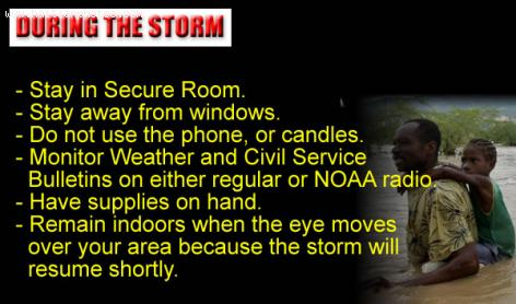 Storm Tips - During Storm