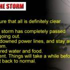 Storm Tips - After Storm