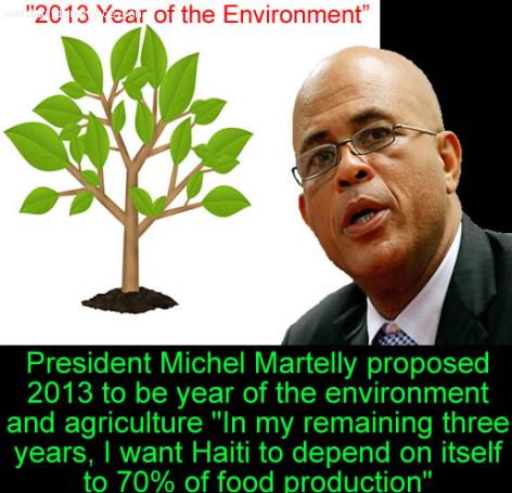 Michel Martelly Says 1.2 Million Trees to be Planted in 24 Hours