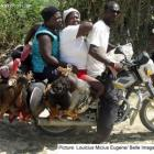 Dangers while riding on a moto-taxi in Haiti
