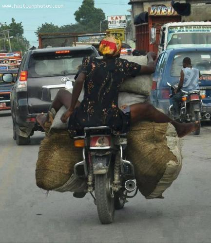 Moto Taxi in Haiti drop passengers anywhere they wish to go