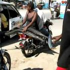 Moto Taxi Transporting Fish in Haiti