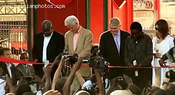 Haitian Iron Market, Marche En Fer At The Inauguration By Denis O'Brien And Bill Clinton