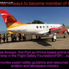 Sunrise Airways acceptance into Flight Safety Foundation