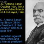 Antoine Simon born October 10th, 1843 in Les Cayes
