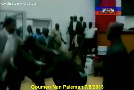 Goumen Nan Paleman - July-2013 - Fist Fight in the Haitian Lower House