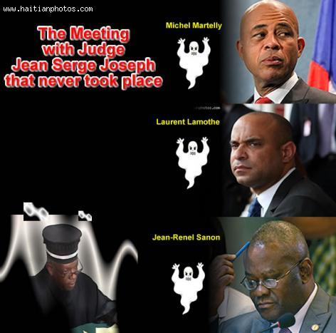 Jean-Serge Joseph, Michel Martelly, Laurent Lamothe Jean-Renel Sanon Met