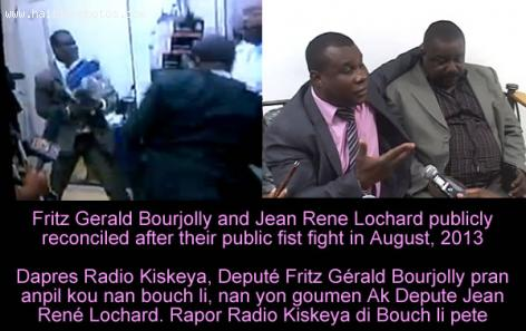 Fritz Gerald Bourjolly and Jean Rene Lochard fight