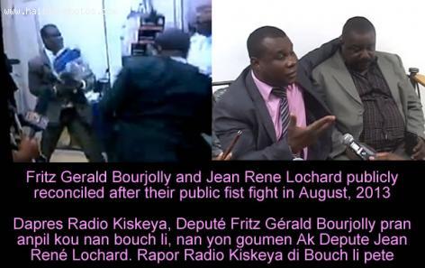 Fritz Gerald Bourjolly and Jean Rene Lochard fight