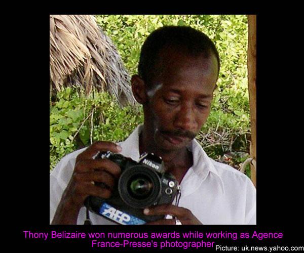 AFP photographer, Thony Belizaire