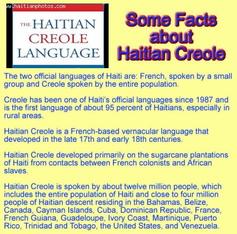 Some Facts about Haitian Creole