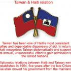 Haiti and Taiwan, what a friend for