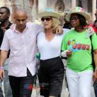 Laurent Lamothe and U.S. Ambassador to Haiti Pamela White in Carnival of Flowers