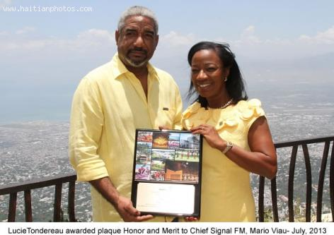 Signal FM Radio Honored by North Miami Mayor Lucie Tondereau