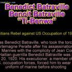 Benedict Batraville Opposes U.S. Marine Invasion
