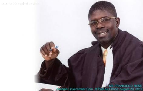 New Chief Prosecutor of Port-au-Prince, Me Rene Francisco