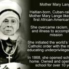 Mother Mary Lange likely to become  First Black Saint