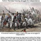 Tire Machèt an Effective Weapon for Haitian Slaves