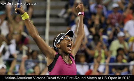 Haitian-American Victoria Duval Wins First-Round Match at US Open, Tennis tournament